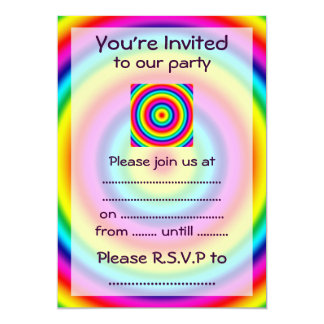 Psychedelic Round Rainbow Pattern Card