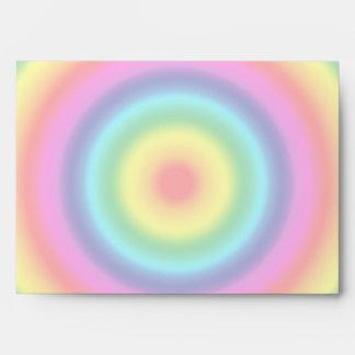 Psychedelic Round Rainbow Pattern Envelope