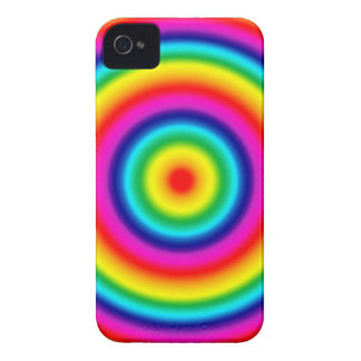 Psychedelic Round Rainbow Pattern iPhone 4 Case