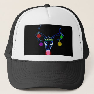 Psychedelic Rudolph Skull Trucker Hat