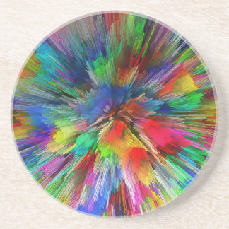 Psychedelic Sandstone Coaster