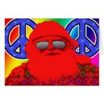 Psychedelic Santa Peace Greeting Card