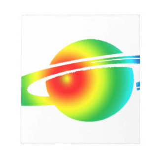 Psychedelic Saturn Notepad