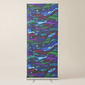 Psychedelic Seascape Stained Glass Style Retractable Banner
