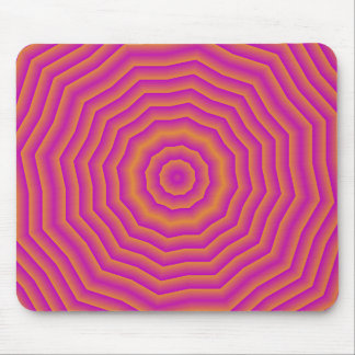 Psychedelic Seventies spider web Mouse Pad