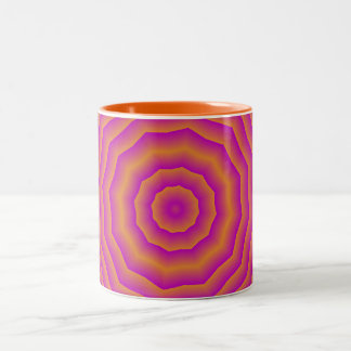 Psychedelic Seventies spider web Two-Tone Coffee Mug