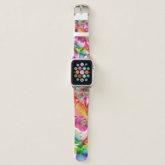 Psychedelic Shamrocks Apple Watch Leather Band