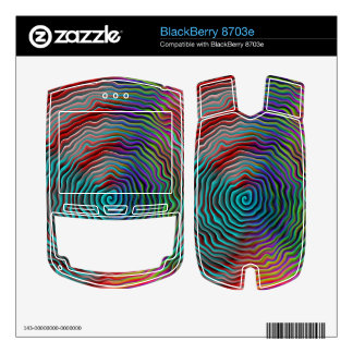 Psychedelic Decals For BlackBerry