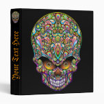 Psychedelic Skull Art Design Binder