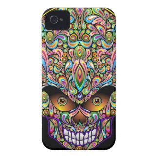 Psychedelic Skull Art Design BlackBerry Bold Cases