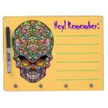 Psychedelic Skull Art Design Dry Erase Board