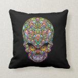 Psychedelic Skull Art Design Pillows