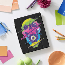 PSYCHEDELIC SKULL DESIGN iPad SMART COVER