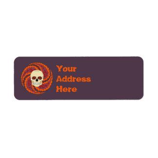 Psychedelic Skull Label
