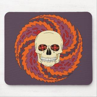 Psychedelic Skull Mouse Pad