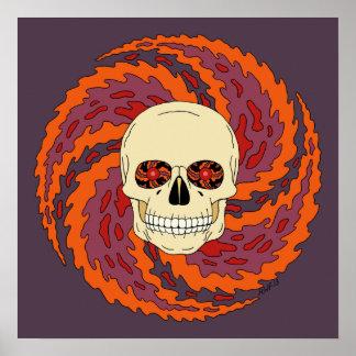 Psychedelic Skull Poster