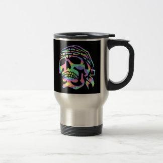 Psychedelic skull Psycho Skull 15 Oz Stainless Steel Travel Mug