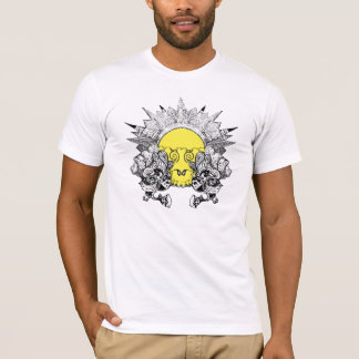 psychedelic skull sunset T-Shirt