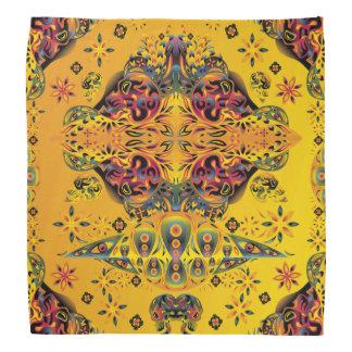 Psychedelic Skull Water Color Bandana