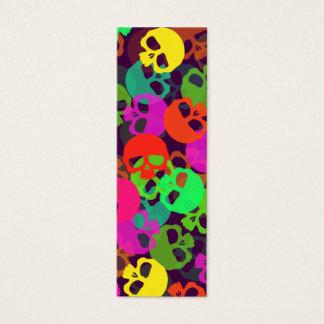 Psychedelic Skulls Bookmark Mini Business Card