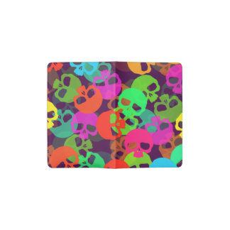 Psychedelic Skulls Pocket Moleskine Notebook Cover With Notebook