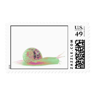 Psychedelic Snail Mail Stamps