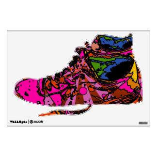Psychedelic Sneakers Wall Decal