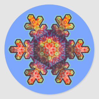 Psychedelic Snowflake Classic Round Sticker