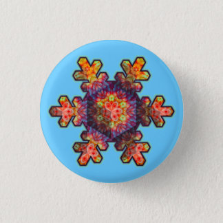 Psychedelic Snowflake Pinback Button