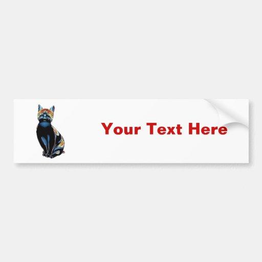 Psychedelic Solarized Kitty Bumper Sticker