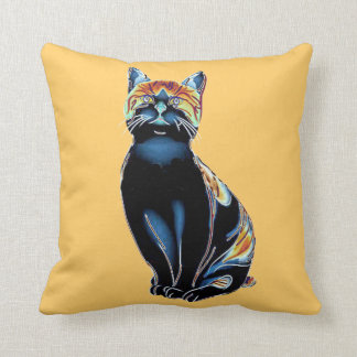 Psychedelic Solarized Kitty Pillow