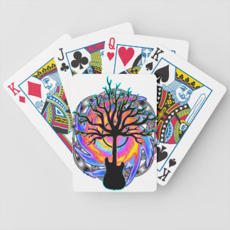 """""""Psychedelic Sonic Cyclone"""" surreal guitar art Bicycle Playing Cards"""