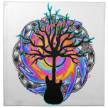 """""""Psychedelic Sonic Cyclone"""" surreal guitar art Napkins"""