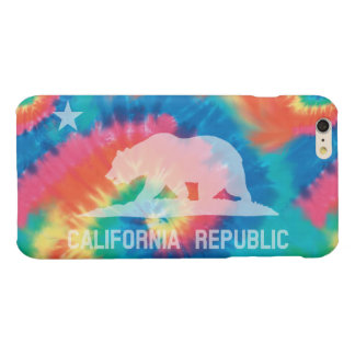 Psychedelic Soul Tie Dyed California Flag Glossy iPhone 6 Plus Case