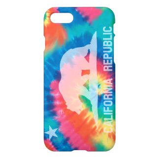 Psychedelic Soul Tie Dyed California Flag iPhone 8/7 Case