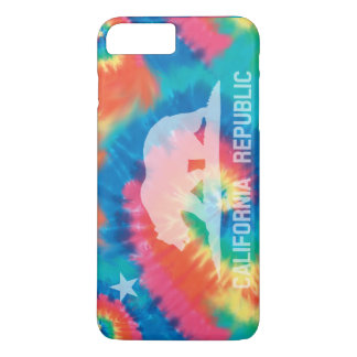Psychedelic Soul Tie Dyed California Republic Flag iPhone 8 Plus/7 Plus Case