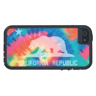 Psychedelic Soul Tie Dyed California Republic Flag iPhone SE/5/5s Case