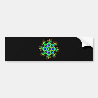 Psychedelic Sphere Spiral Bumper Sticker