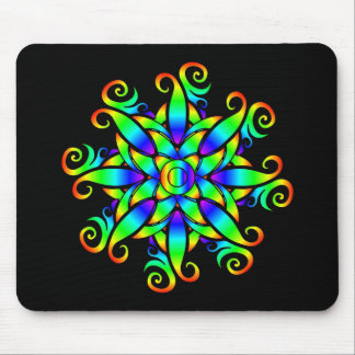 Psychedelic Sphere Spiral Mouse Pads