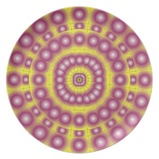 Psychedelic Spheres Dartboard Party Plate