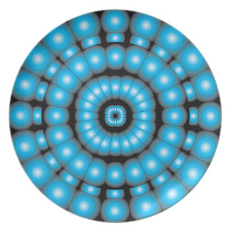 Psychedelic Spheres Dartboard Plate