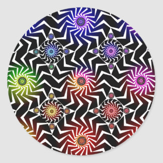 Psychedelic Spheres Pattern: Classic Round Sticker