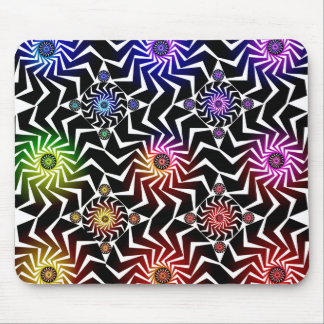 Psychedelic Spheres Pattern: Mouse Pad