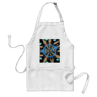 Psychedelic Spider Portal Adult Apron