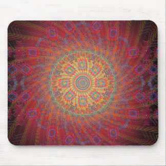 Psychedelic Spiral Fractal Design: Mousepad