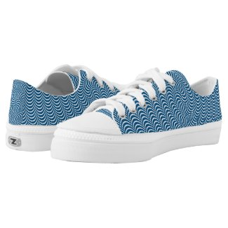 Psychedelic Spiral in Blue... Low-Top Sneakers