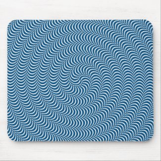 Psychedelic Spiral in Blue Mouse Pad