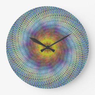 Psychedelic spiral large clock
