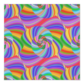 Psychedelic spiral magnetic card