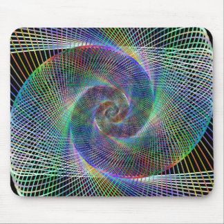 Psychedelic Spiral Mouse Pad